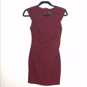 Topshop Size 2 Sheath Dress Burgundy